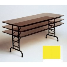"""Adjustable Height 3/4"""" High Pressure Top Folding Table - 36x96"""" - Yellow"""