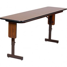 """Adjustable Height 3/4"""" High Pressure Folding Seminar Table with Panel Leg - 18x60"""" - Fusion Maple"""