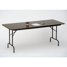 """Solid High-Pressure Plywood Core Folding Tables - 30x96"""" - Walnut"""