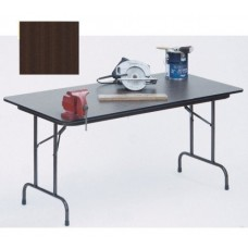 """Solid High-Pressure Plywood Core Folding Tables - 18x60"""" - Walnut"""