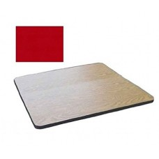 """Bar & Cafe Table Parts-TOP ONLY - 24"""" Square - Red"""