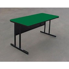 """Keyboard Height 1 1/4"""" High Pressure Top Computer/Training Tables  - 30x48"""" - Green"""