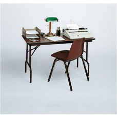 "Keyboard Height Melamine Folding Tables - 24x36"" - Black Granite"