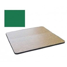 """Bar & Cafe Table Parts-TOP ONLY - 24"""" Square - Green"""
