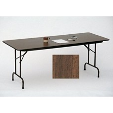 "Solid High-Pressure Plywood Core Folding Tables - 36x72"" - Walnut"