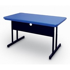 """Blow-Molded Plastic Top Computer/Training Tables - 30x72"""" - Red"""