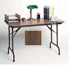 "Keyboard Height Melamine Folding Tables - 24x36"" - Walnut"