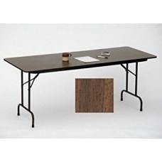 """Solid High-Pressure Plywood Core Folding Tables - 18x96"""" - Walnut"""