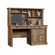 Palladia Computer Desk With Hutch - Vintage Oak