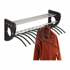 "Mode™ 36"" Wood Wall Coat Rack With Hangers - Black/Silver"