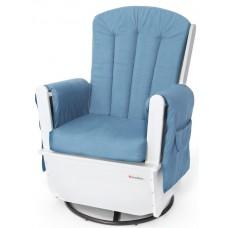 SafeRocker™ Swivel Glider - White/Blue - N/A