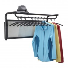 Impromptu® Coat Wall Rack with Hangers - Black