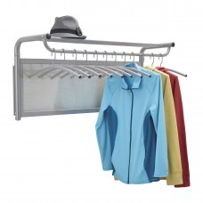 Impromptu® Coat Wall Rack with Hangers - Gray