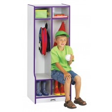 Rainbow Accents® 2 Section Coat Locker with Step - Black