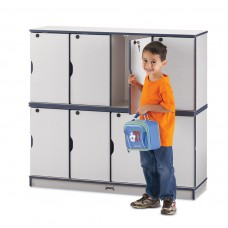 Rainbow Accents® Stacking Lockable Lockers -  Triple Stack - Blue