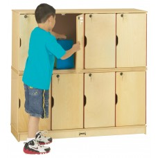 Jonti-Craft® Stacking Lockable Lockers -  Double Stack - ThriftyKYDZ®