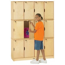 Jonti-Craft® Stacking Lockable Lockers -  Triple Stack - ThriftyKYDZ®