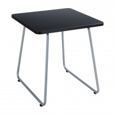 Anywhere End Table - Silver (base);Black (top)