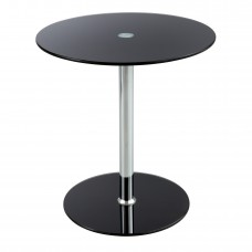 Glass Accent Table - Black - Black (top)