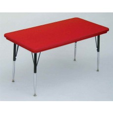 "Blow-Molded Plastic Top Activity Tables - 24x48"" - Grey Granite"