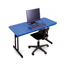 """Keyboard Height Blow-Molded Plastic Top Computer/Training Tables - 30x72"""" - Green"""