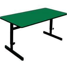 "Adjustable Height 1 1/4"" High Pressure Top Computer/Training Tables  - 24x60"" - Green"