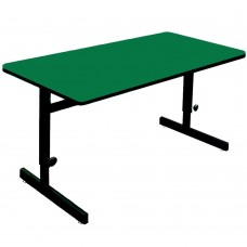 "Adjustable Height 1 1/4"" High Pressure Top Computer/Training Tables  - 24x36"" - Green"