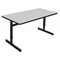 "1 1/8"" Melamine Top Computer/Training Tables - 24x48"" - Gray Granite"