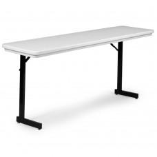 Heavy Duty Blow-Molded Folding Seminar Table with T-Leg - 18x72 - Mocha Granite