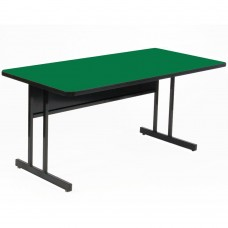 """Keyboard Height 1 1/4"""" High Pressure Top Computer/Training Tables  - 24x48"""" - Green"""