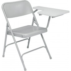 Grey Tablet  arm Premium Folding Chairs Carton of 2