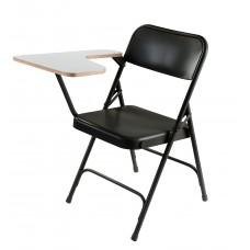 Grey Nebula Left Tablet Arm Premium Folding Chair Carton Of 2