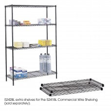 "Commercial Extra Shelf Pack, 48 x 18"" - Black"