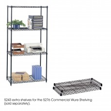 "Commercial Extra Shelf Pack, 36 x 18"" - Black"