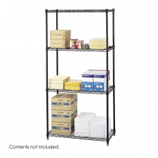 "Commercial Wire Shelving, 36 x 18"" - Black"