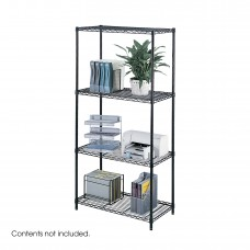 "Industrial Wire Shelving, 36 x 18"" - Black"