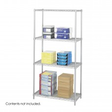 "Industrial Wire Shelving, 36 x 18"" - Metallic Gray"