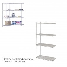 "Industrial Add-On Unit, 36 x 18"" - Metallic Gray"