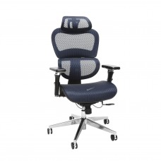 OFM Core Collection Ergo Office Chair featuring Mesh Back and Seat with Head Rest, in Blue (540-BLU)