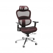 OFM Core Collection Ergo Office Chair featuring Mesh Back and Seat with Head Rest, in Burgundy (540-BURG)