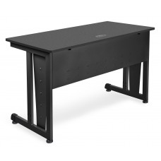 "OFM Model 55103 24"" x 48"" Modular Computer and Training Table, Graphite with Black Frame"