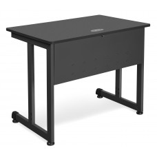 "OFM Model 55139 24"" x 36"" Modular Computer and Training Table, Graphite with Black Frame"