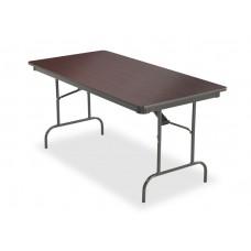 Premium Wood Laminate Folding Table 30x60, Mahogany