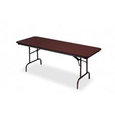 Premium Wood Laminate Folding Table 30x72, Mahogany