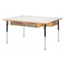 "Jonti-Craft® Table with Storage - 24"" - 31"" Ht - with Colored Paper-Trays"