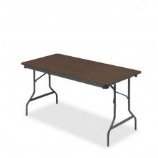 Economy Wood Laminate Folding Table 30x60, Walnut