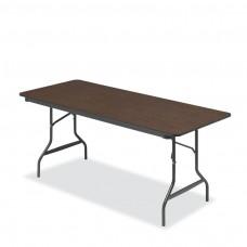 Economy Wood Laminate Folding Table 30x72, Walnut