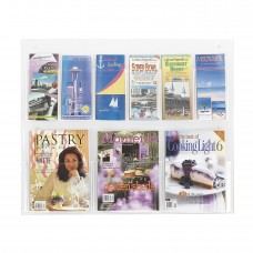 Clear2c™ 3 Magazine and 6 Pamphlet Display - Clear