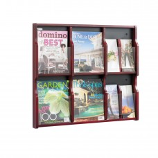 Expose™ 6 Magazine 12 Pamphlet Display - Mahogany/Black
