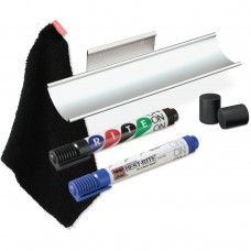 Optional Aluminum Marker Tray, 2-Pack Markers, Eraser Cloth, 4 Earth Magnets
